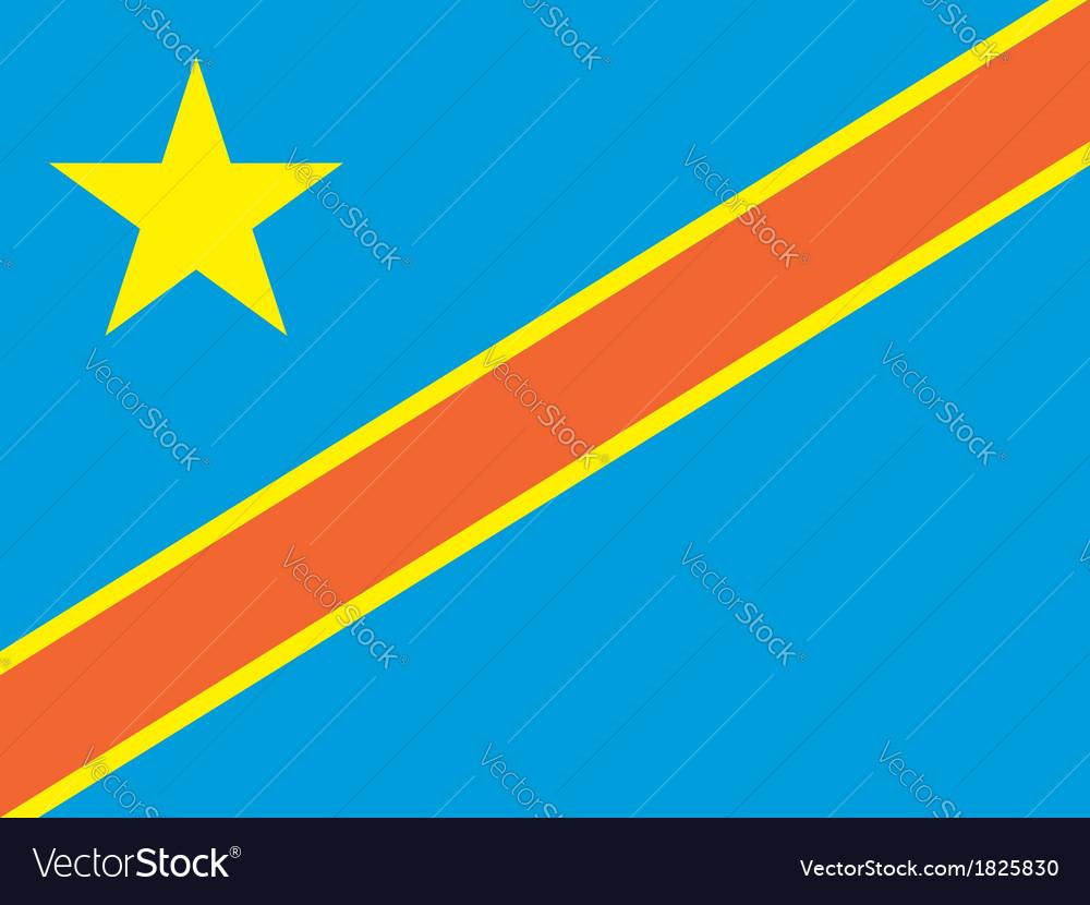 Democratic republic of the congo flag vector | Price: 1 Credit (USD $1)