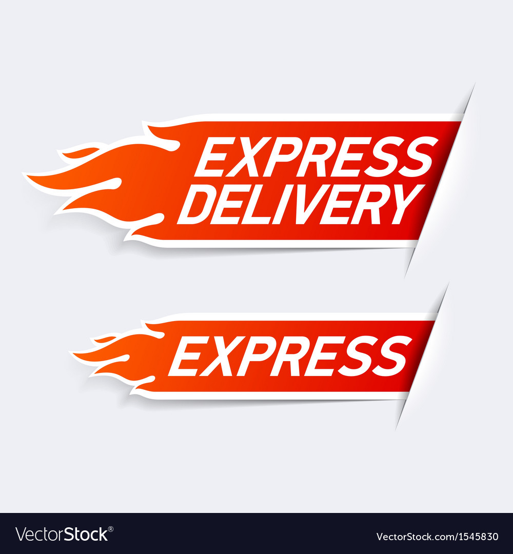 Express delivery vector | Price: 1 Credit (USD $1)