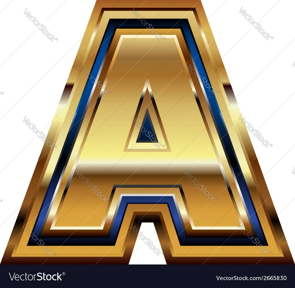 Golden font letter a vector   Price: 1 Credit (USD $1)