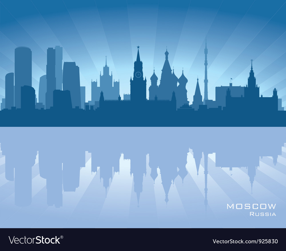 Moscow russia skyline vector | Price: 1 Credit (USD $1)