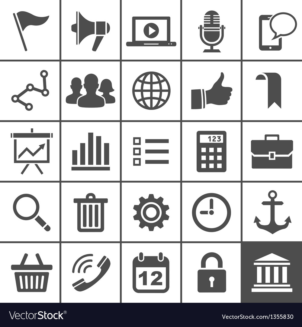 Universal icon set 25 icons for website and app vector | Price: 1 Credit (USD $1)