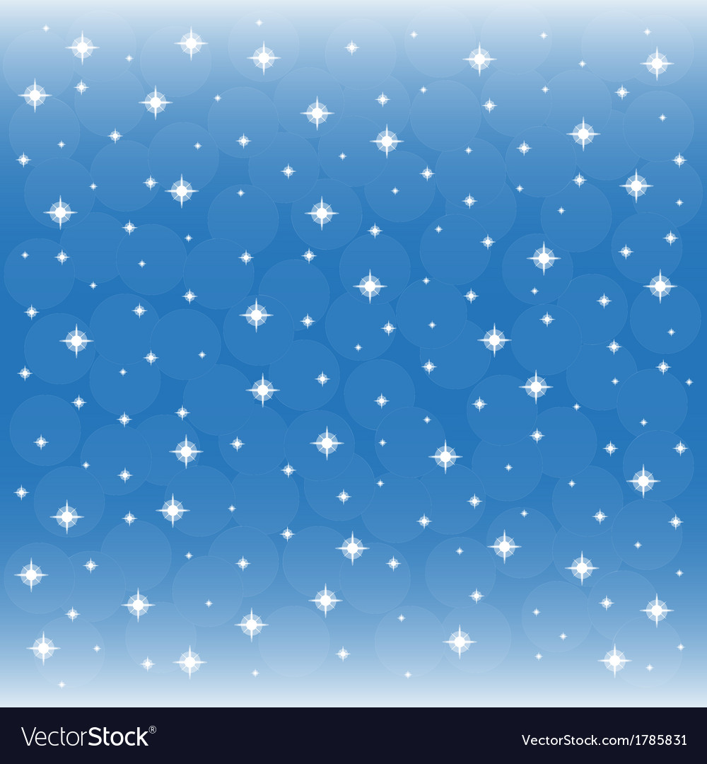 Background blue sky with snowflakes vector | Price: 1 Credit (USD $1)