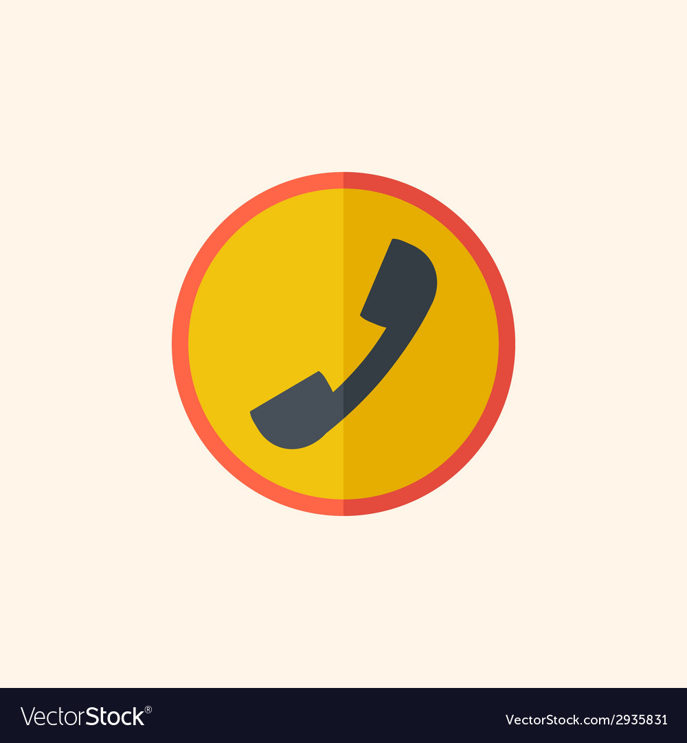 Call flat icon vector   Price: 1 Credit (USD $1)