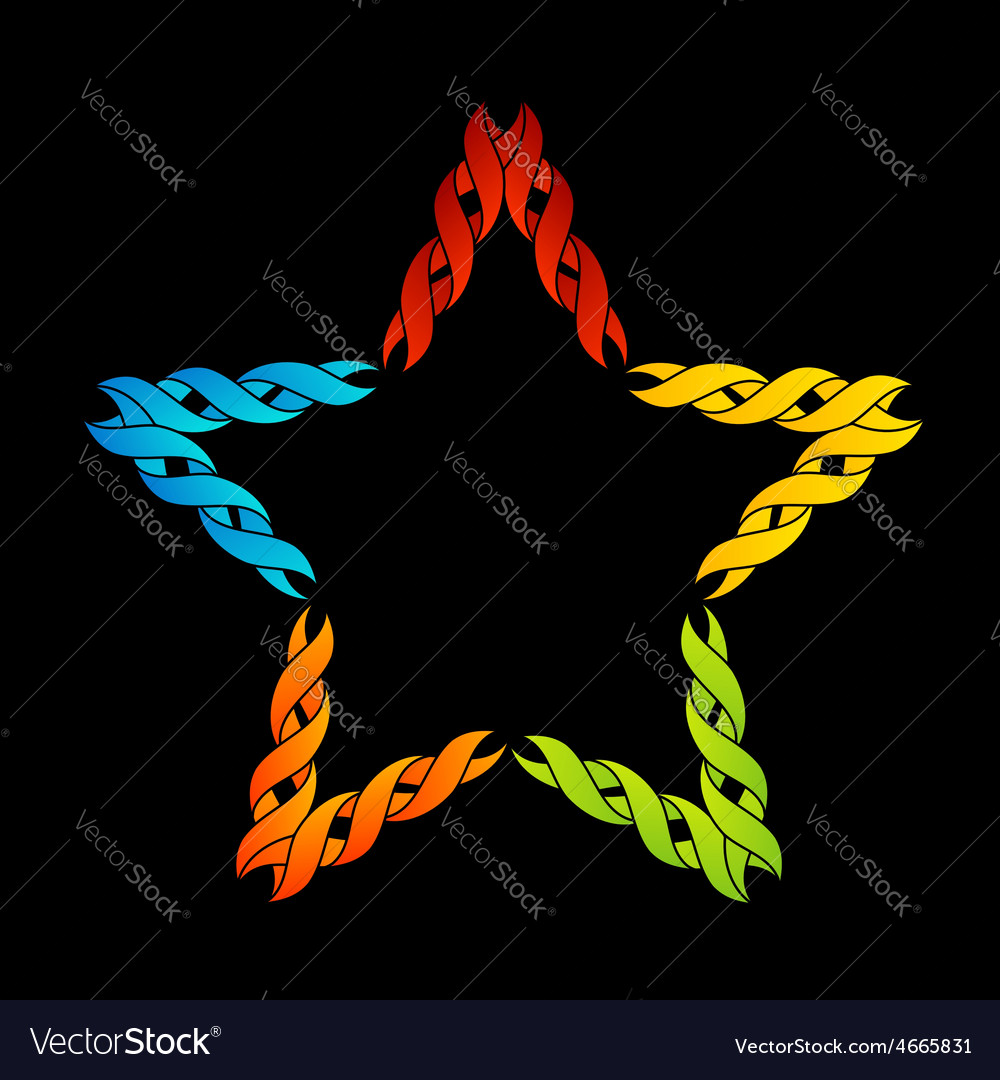 Colorful celtic star- tattoo or decoration vector | Price: 1 Credit (USD $1)