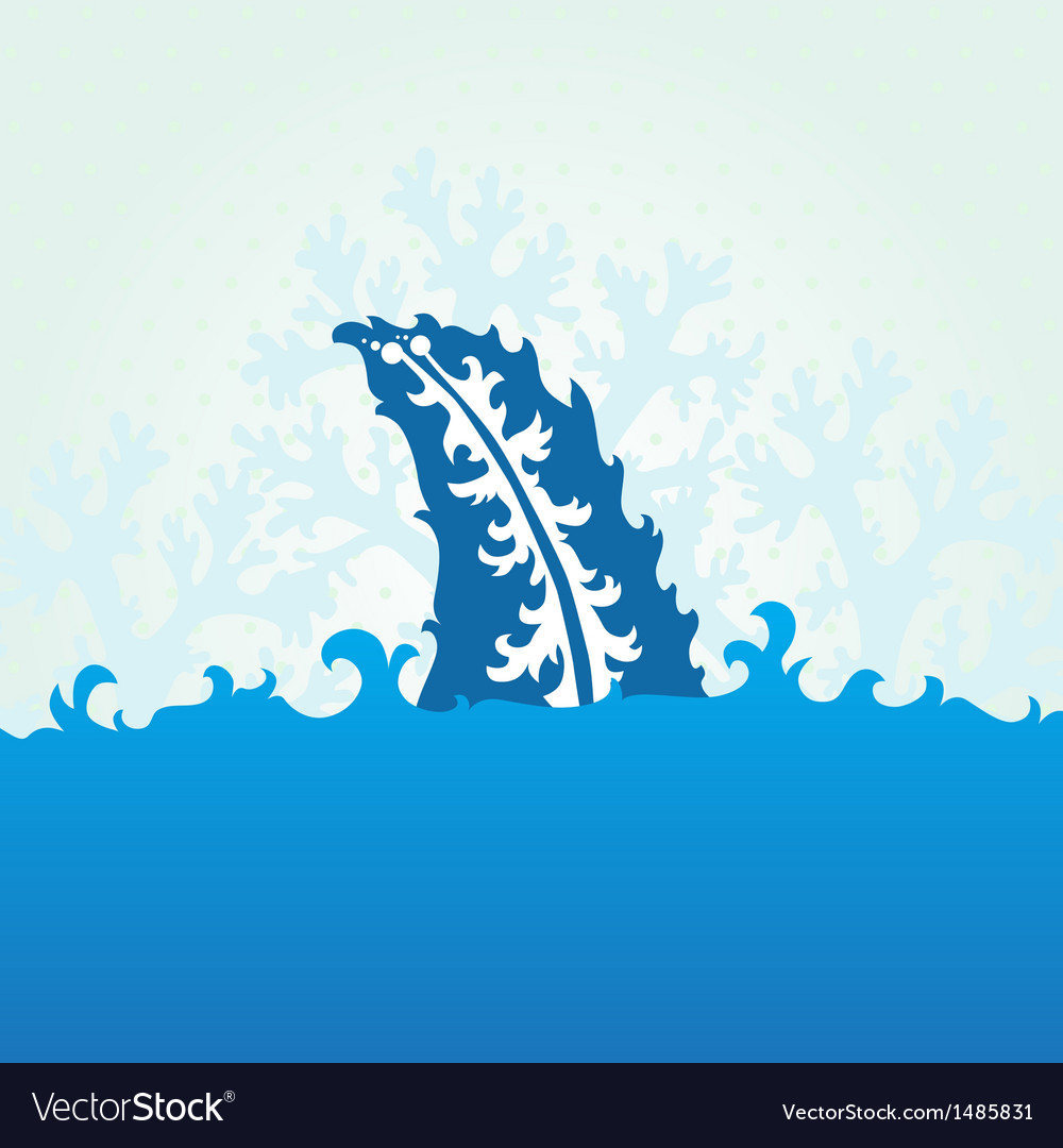 Decorative shark fin vector | Price: 1 Credit (USD $1)