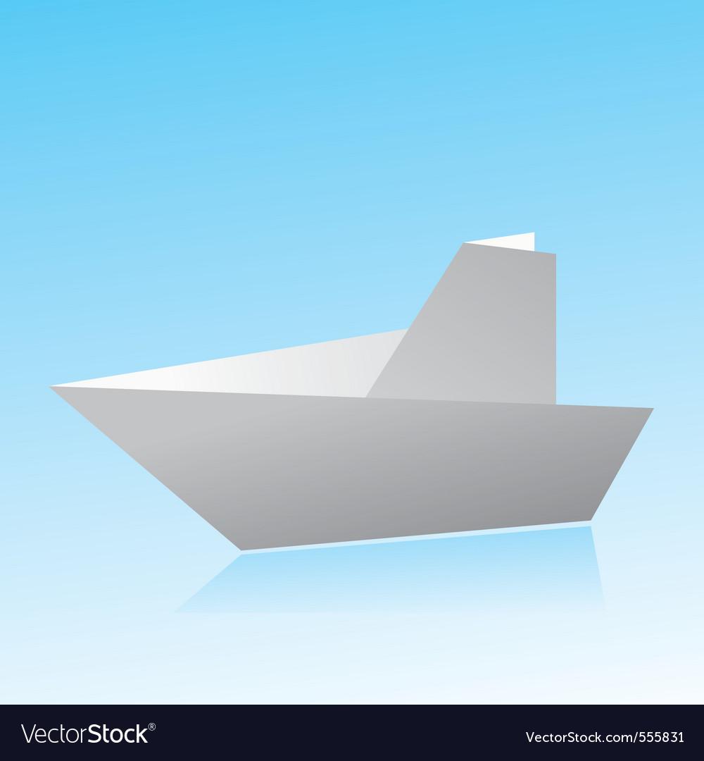 Origami boat vector   Price: 1 Credit (USD $1)