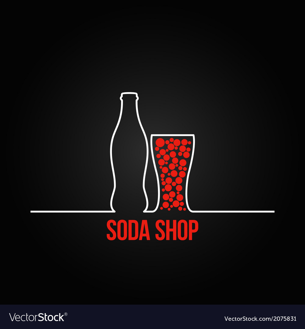 Soda bottle splash design menu backgraund vector | Price: 1 Credit (USD $1)