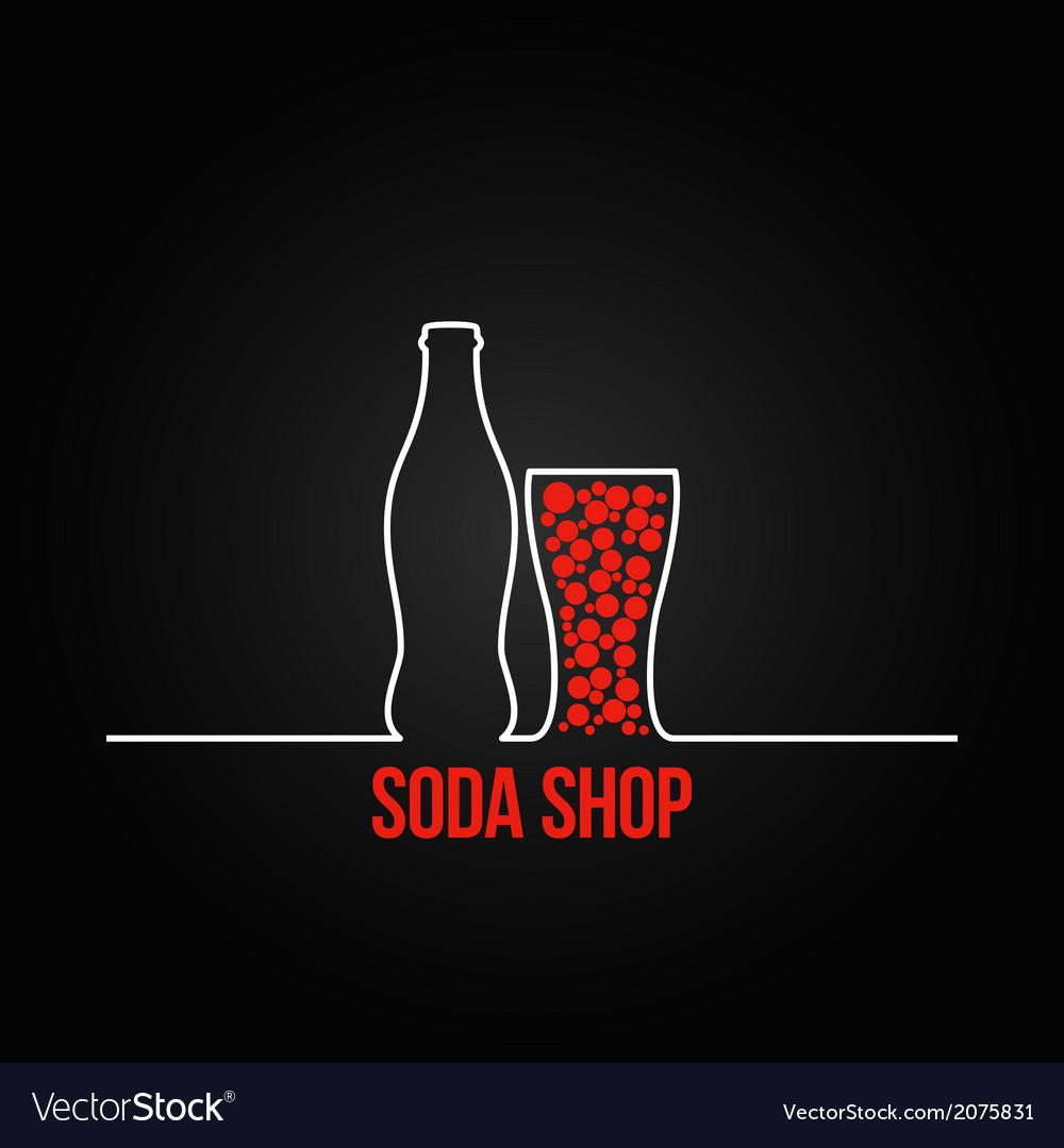 Soda bottle splash design menu backgraund vector | Price: 1 Credit (USD $1)