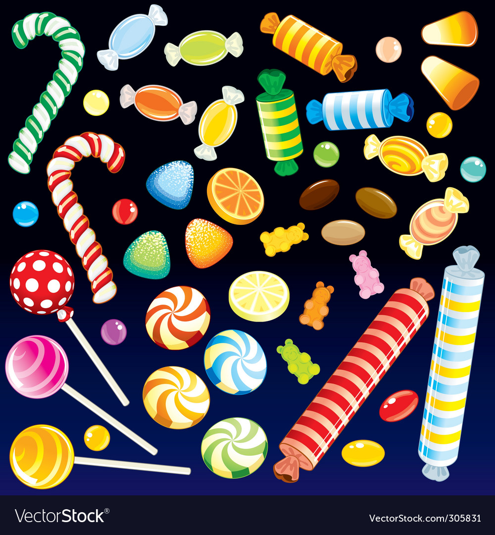 Sweet candies vector | Price: 3 Credit (USD $3)