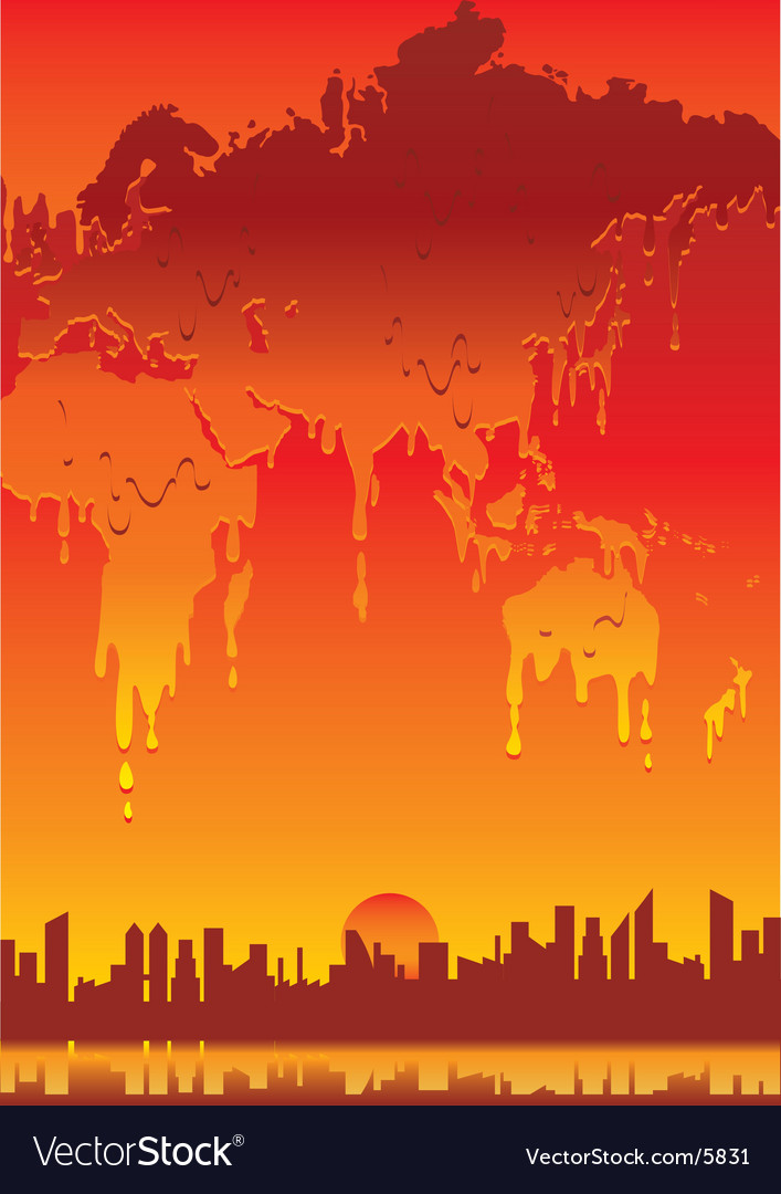World melting vector | Price: 1 Credit (USD $1)