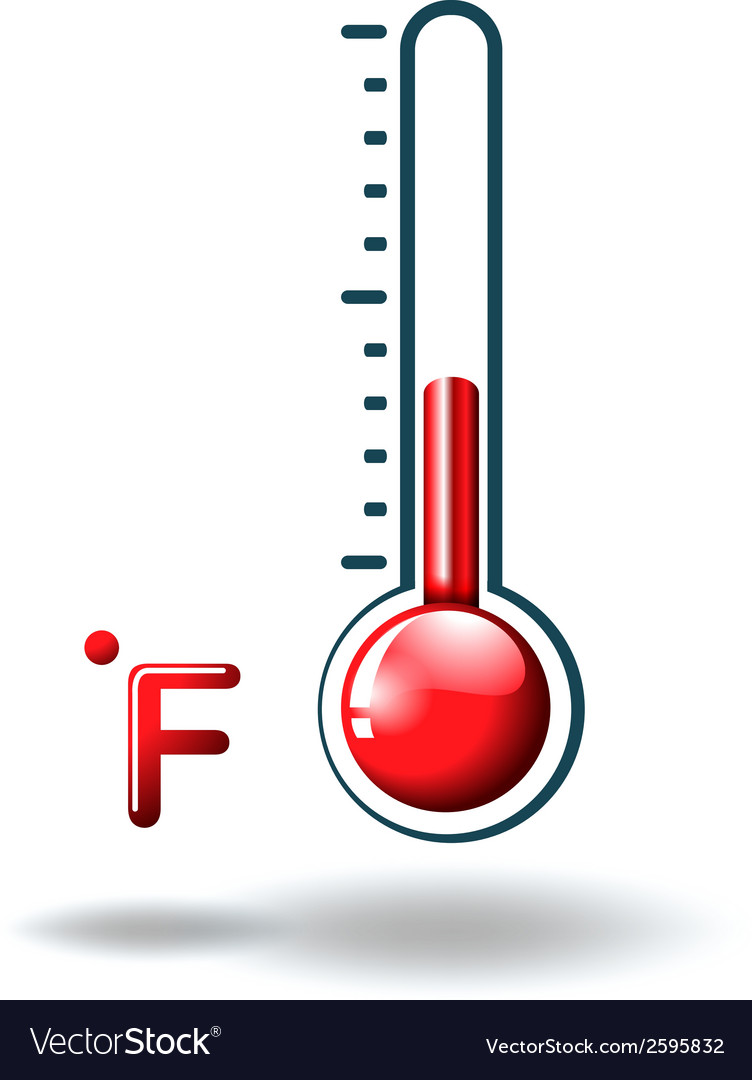 A fahrenheit scale vector | Price: 1 Credit (USD $1)