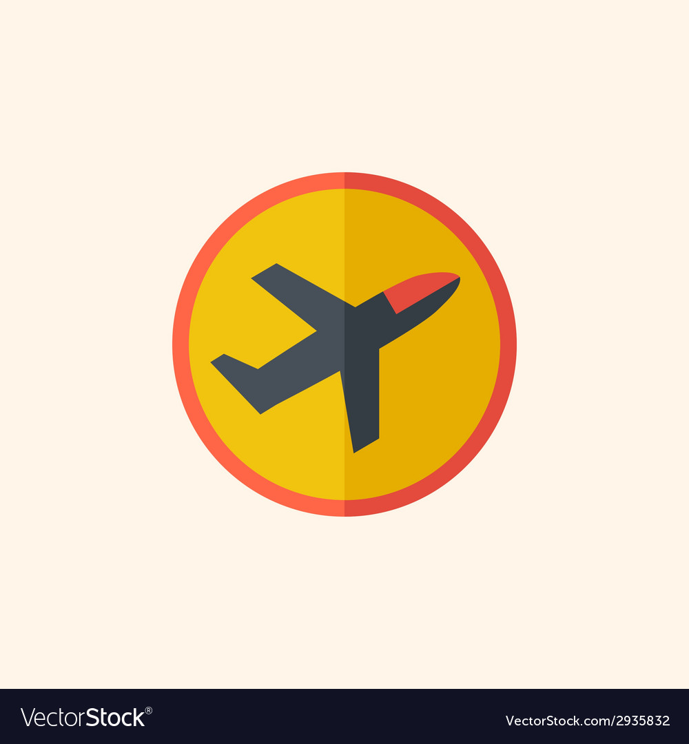 Airplane travel flat icon vector | Price: 1 Credit (USD $1)