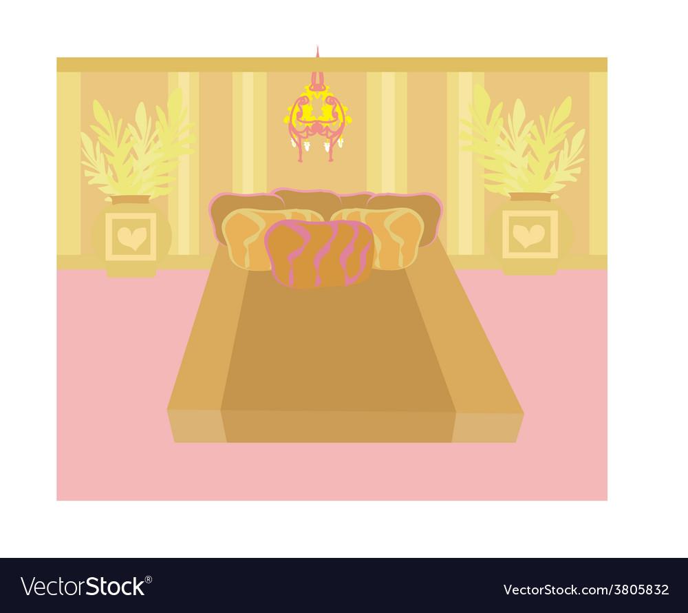 Bedroom interior vector | Price: 1 Credit (USD $1)