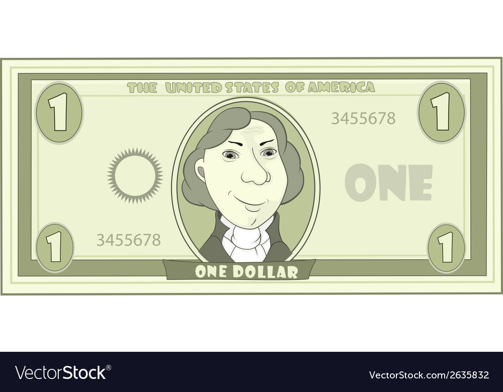 Cartoon american dollar vector | Price: 1 Credit (USD $1)