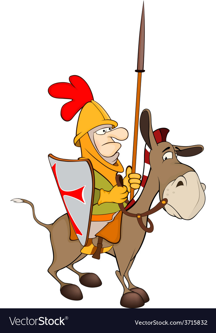 The knight and knightly donkey vector | Price: 1 Credit (USD $1)