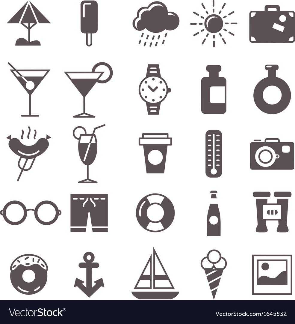Rest icons vector | Price: 1 Credit (USD $1)