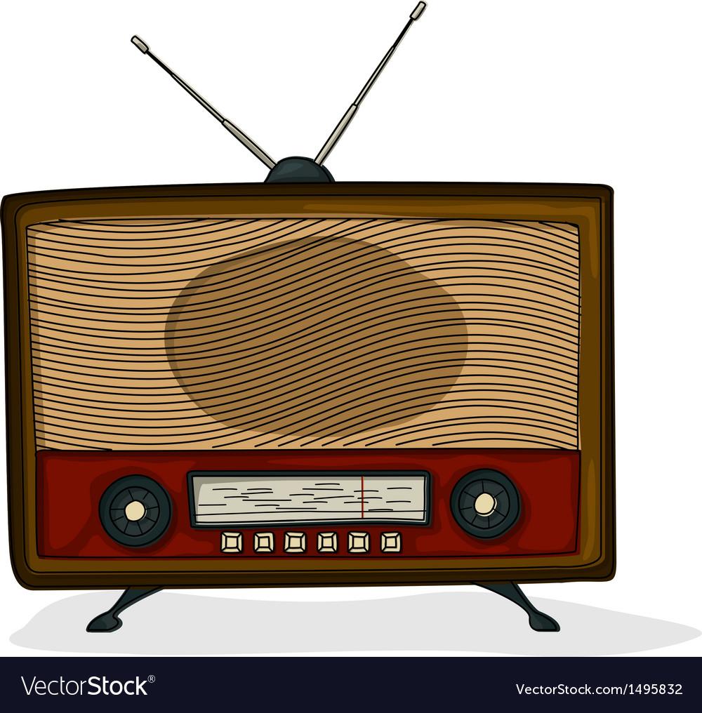 Retro radio vector | Price: 1 Credit (USD $1)