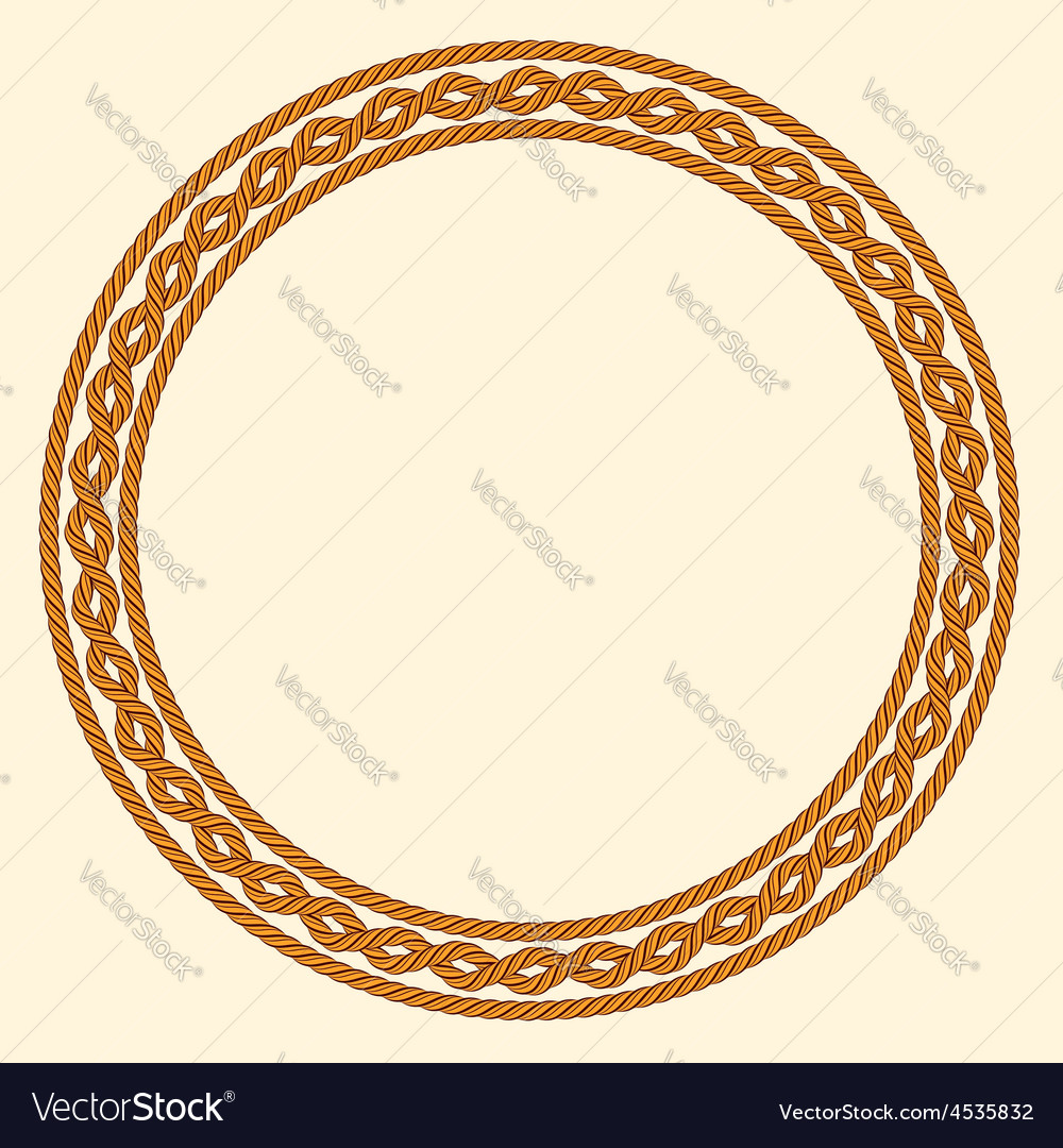 Rope decorative round frame vector | Price: 1 Credit (USD $1)