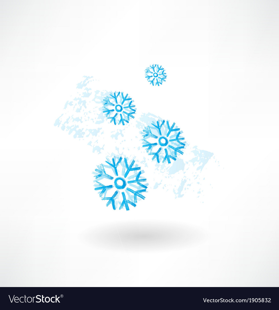 Snoeflakes grunge icon vector | Price: 1 Credit (USD $1)