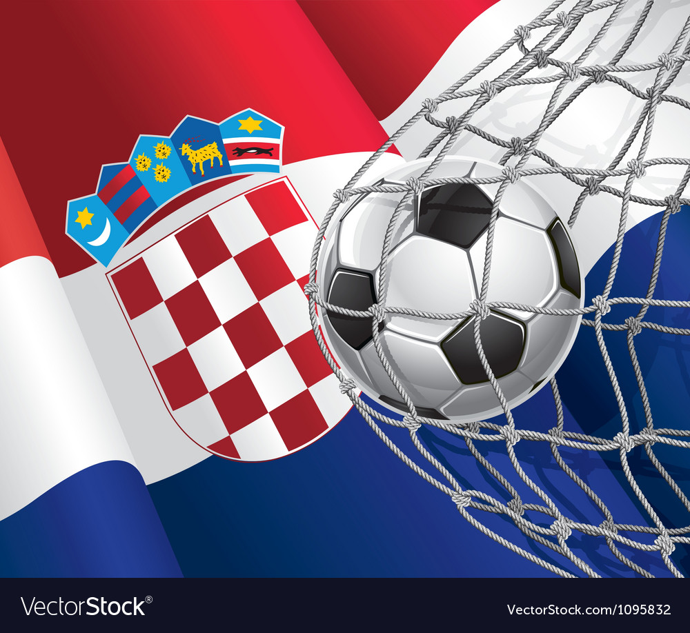 Soccer goal and croatia flag vector | Price: 1 Credit (USD $1)