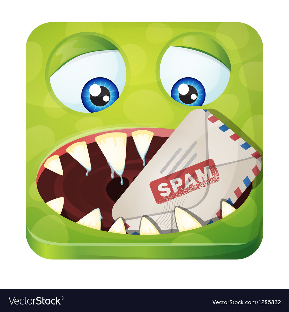 Spam eater vector | Price: 1 Credit (USD $1)