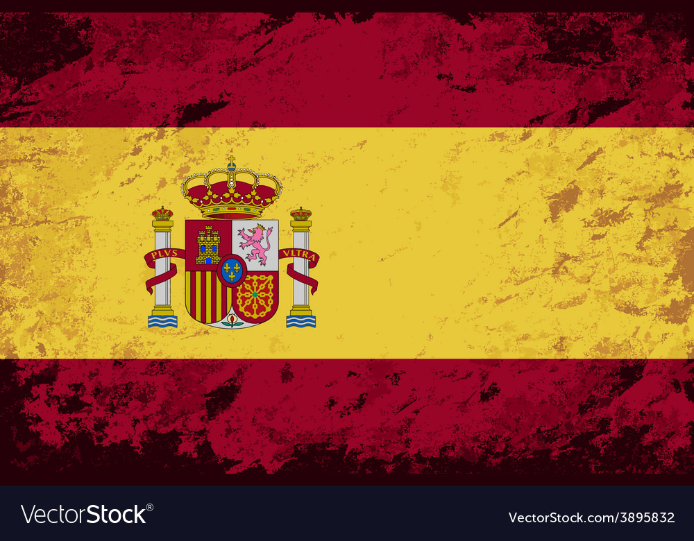 Spanish flag grunge background vector | Price: 1 Credit (USD $1)