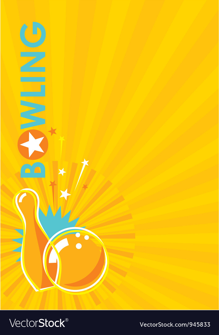 Bowling poster background vector | Price: 1 Credit (USD $1)