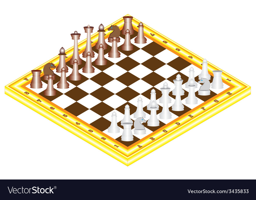 Chess on chess board vector | Price: 1 Credit (USD $1)