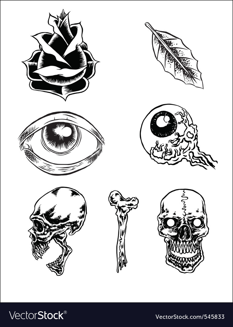 Classic tattoos vector | Price: 1 Credit (USD $1)