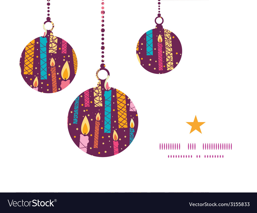 Colorful birthday candles christmas ornaments vector | Price: 1 Credit (USD $1)