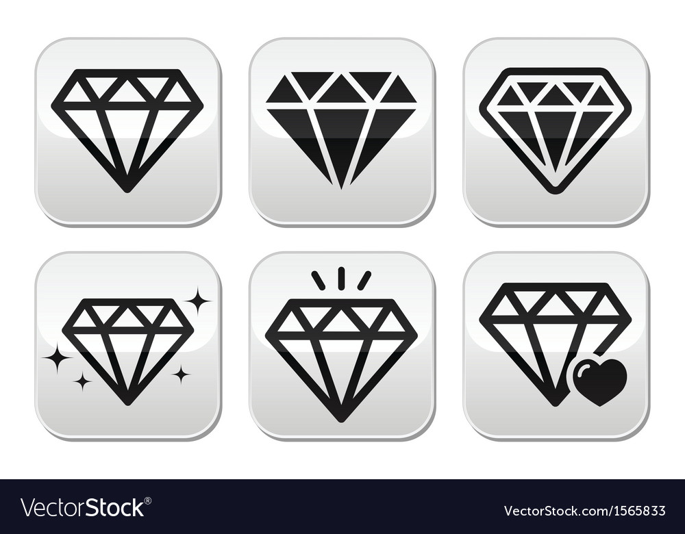 Diamond icons set vector | Price: 1 Credit (USD $1)