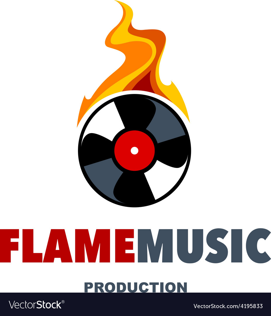 Flame music logo vector | Price: 1 Credit (USD $1)