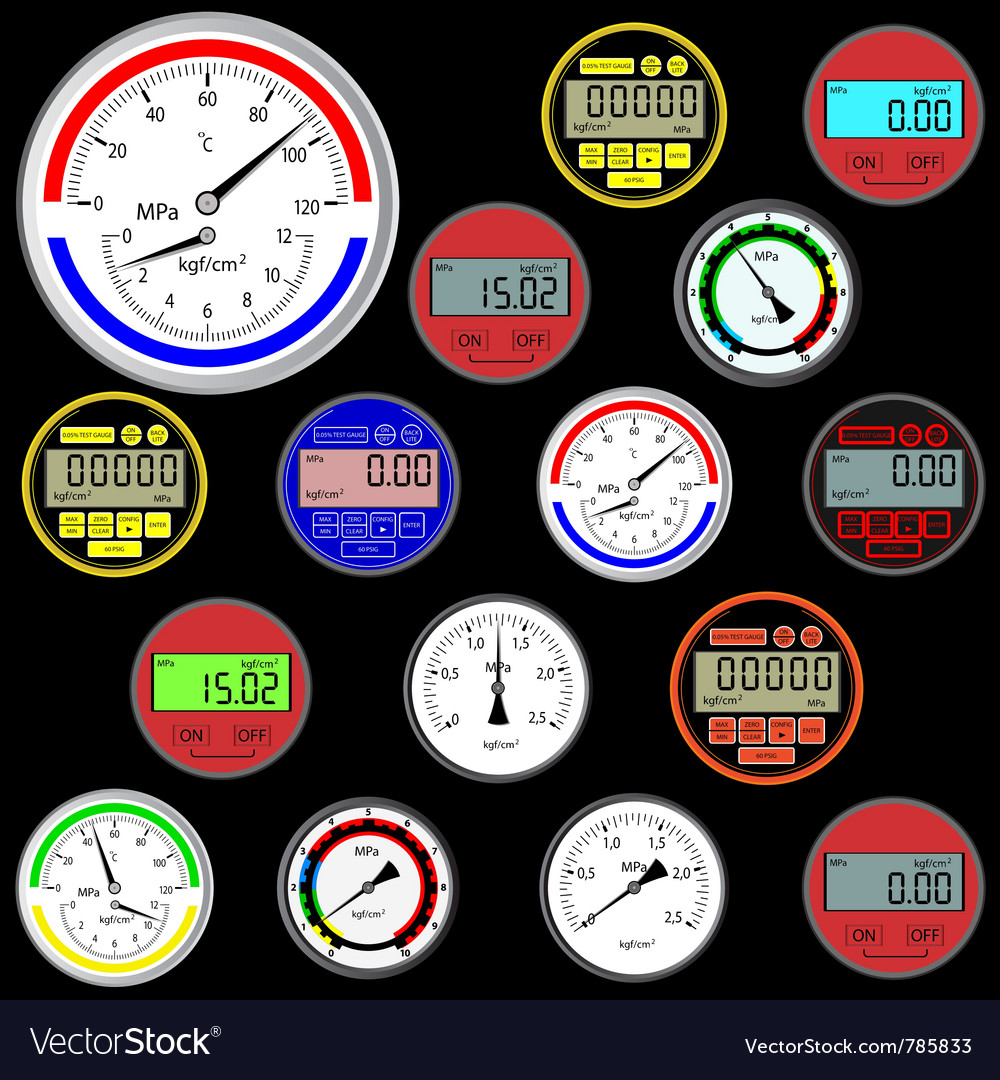 Gauges and dials vector | Price: 1 Credit (USD $1)