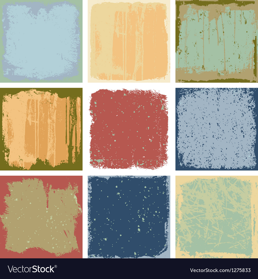 Grunge square backgrounds vector | Price: 1 Credit (USD $1)