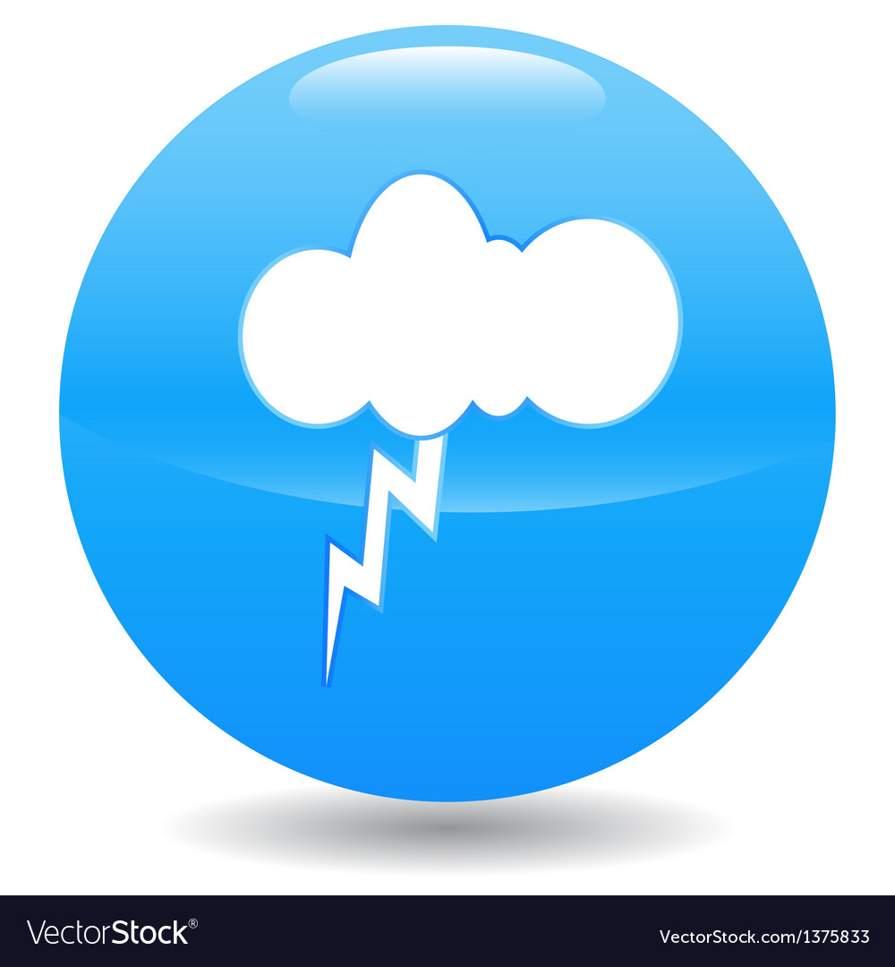 Lightning and cloud vector | Price: 1 Credit (USD $1)