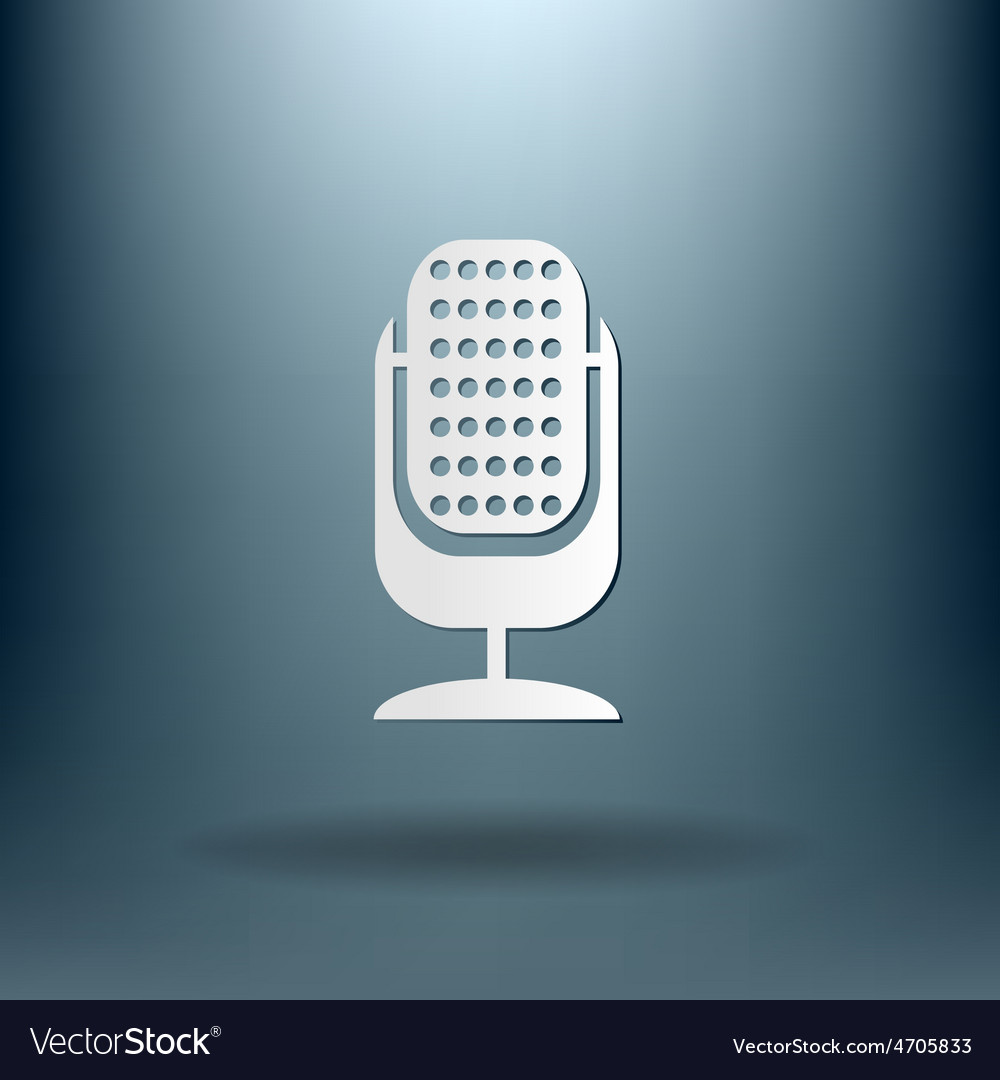 Microphone character singing and the music vector | Price: 1 Credit (USD $1)
