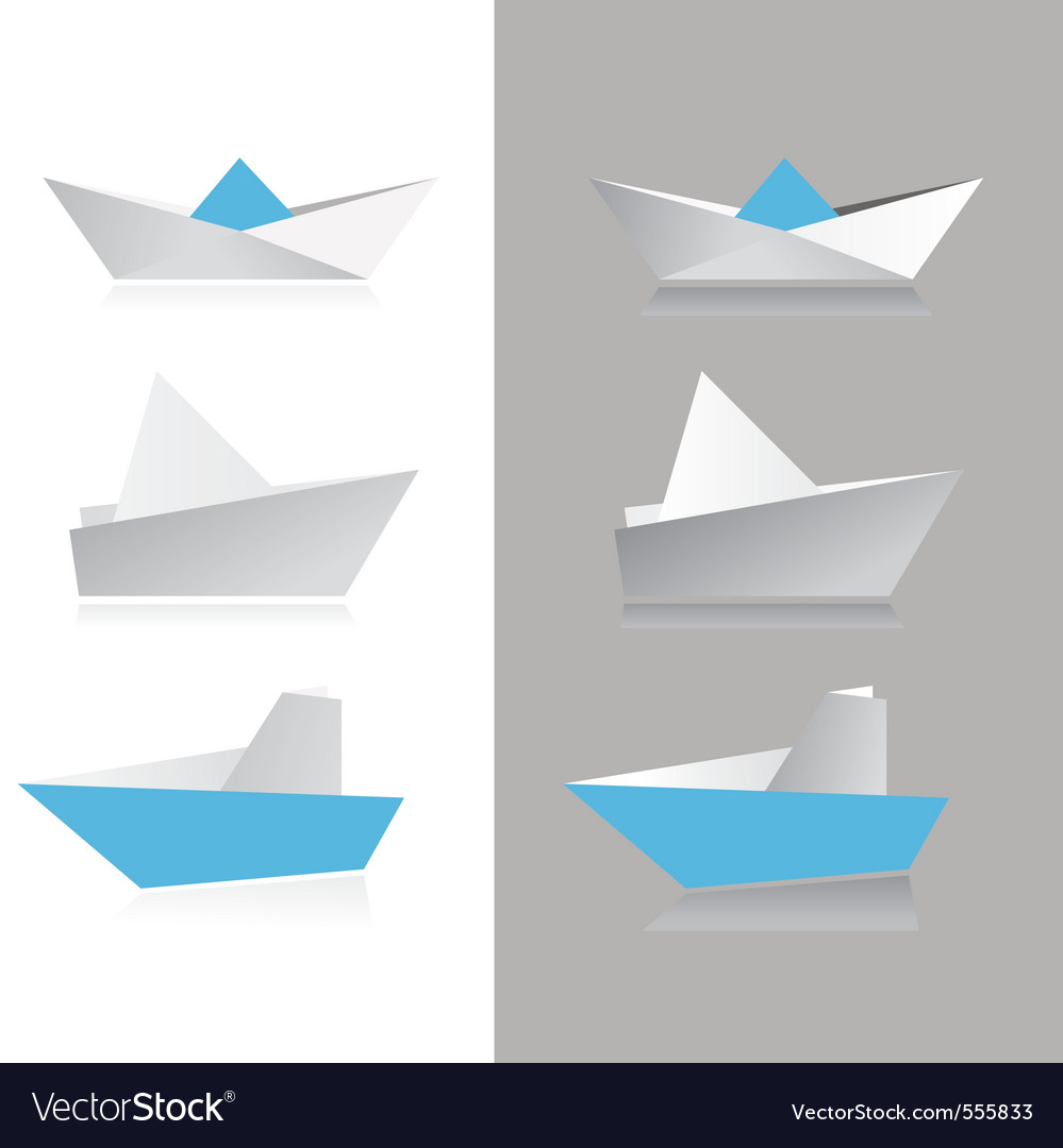 Origami ship vector | Price: 1 Credit (USD $1)