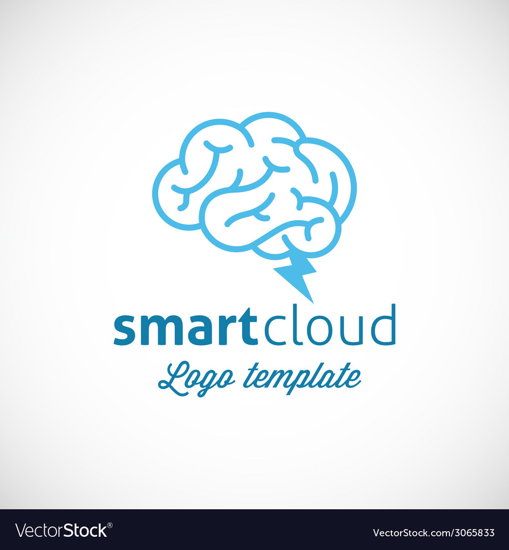 Smart cloud abstract logo template vector | Price: 1 Credit (USD $1)