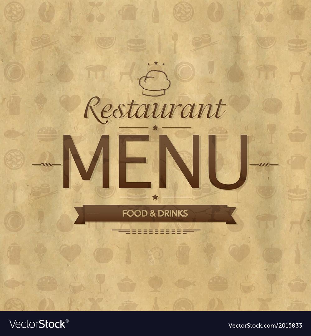 Vintage restaurant menu design vector | Price: 1 Credit (USD $1)