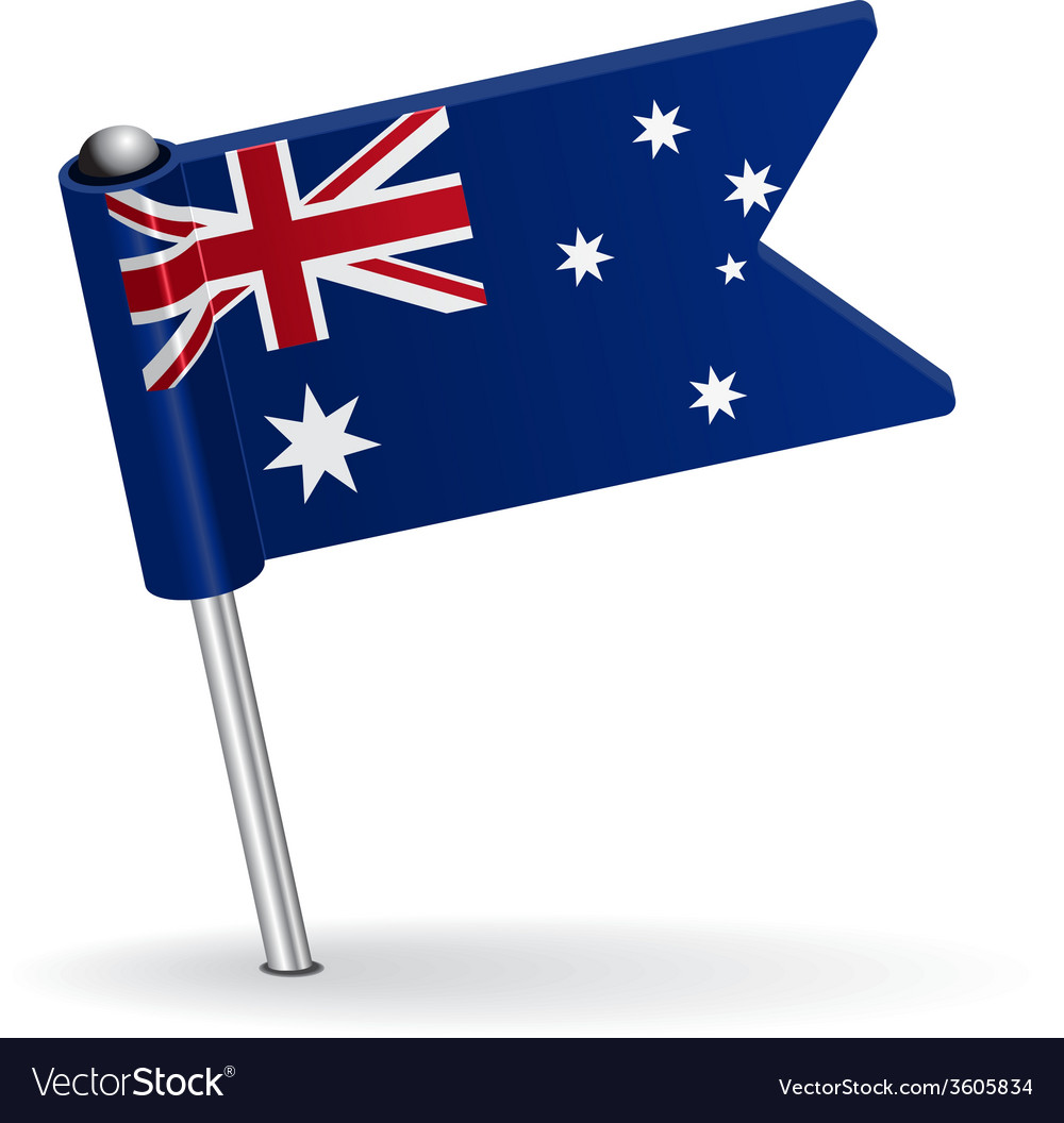 Australian pin icon flag vector | Price: 1 Credit (USD $1)