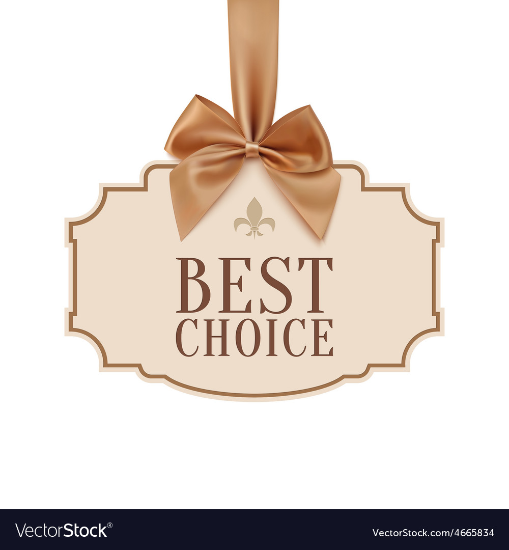 Best choice banner with golden ribbon vector   Price: 3 Credit (USD $3)