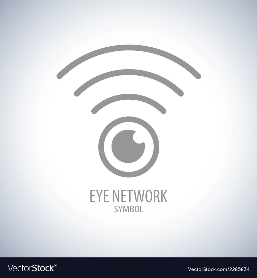 Eye network symbol icon vector   Price: 1 Credit (USD $1)
