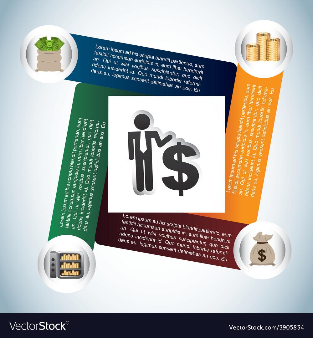 Money infographics vector | Price: 1 Credit (USD $1)