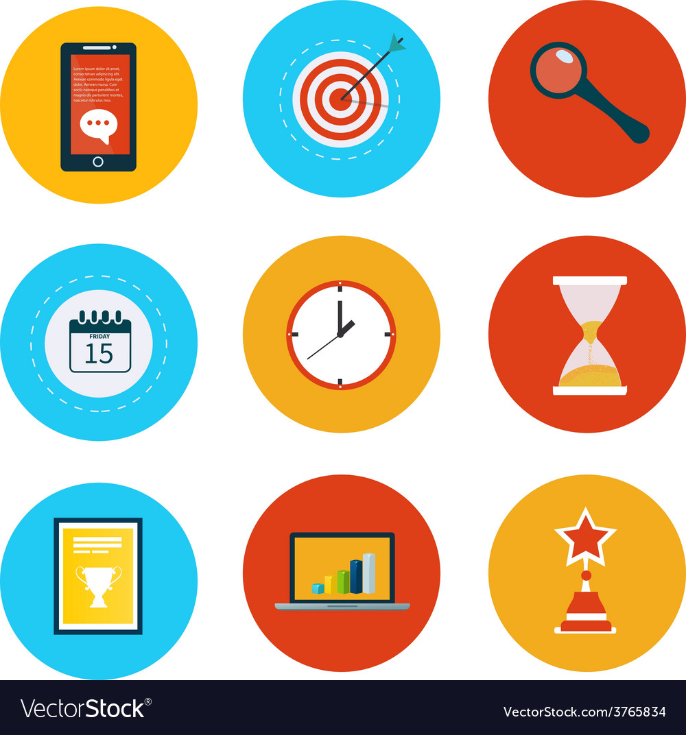 Set of modern flat design concept icons vector | Price: 1 Credit (USD $1)