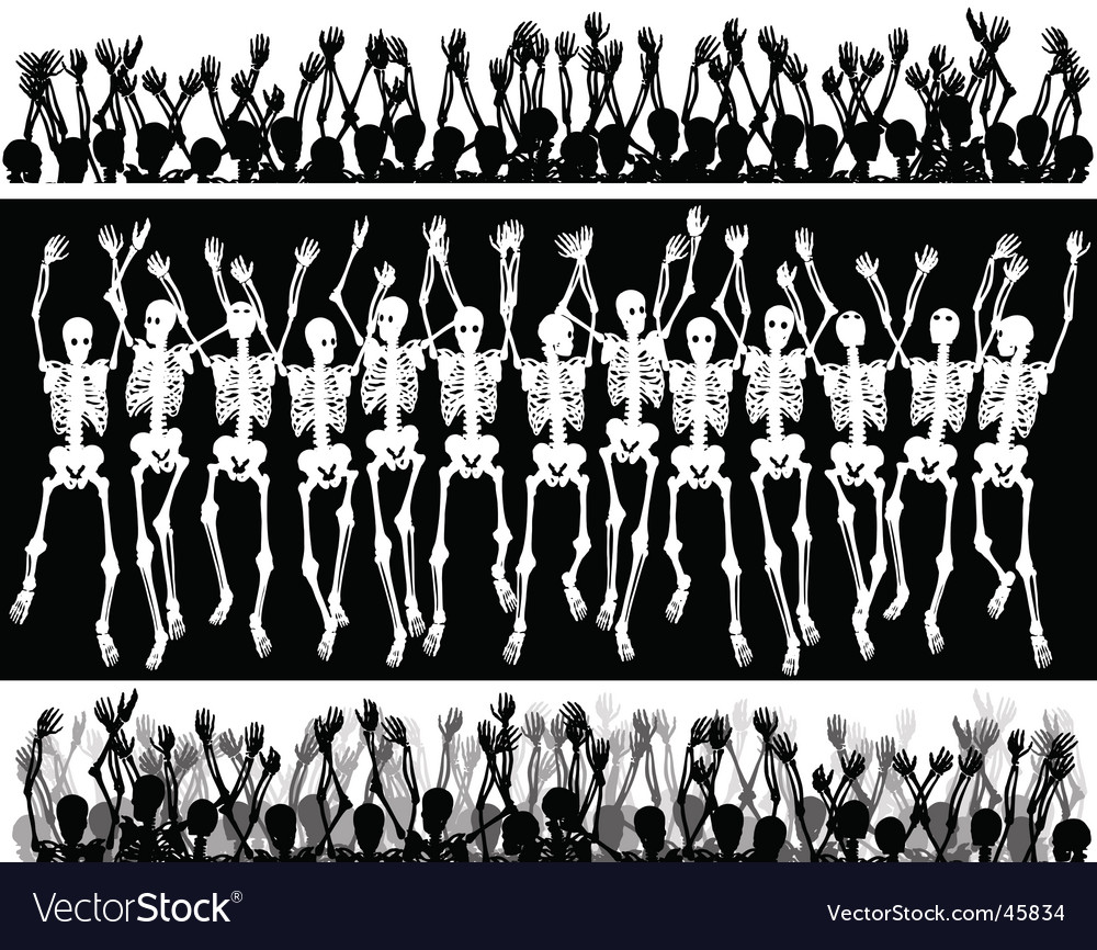 Skeleton crowd vector | Price: 1 Credit (USD $1)