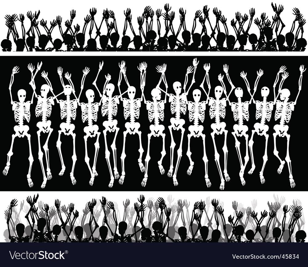 Skeleton crowd vector   Price: 1 Credit (USD $1)