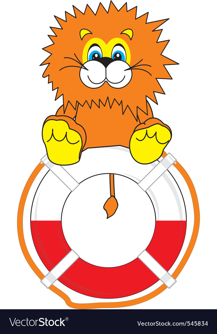 Smiling little lion on life bu vector   Price: 1 Credit (USD $1)