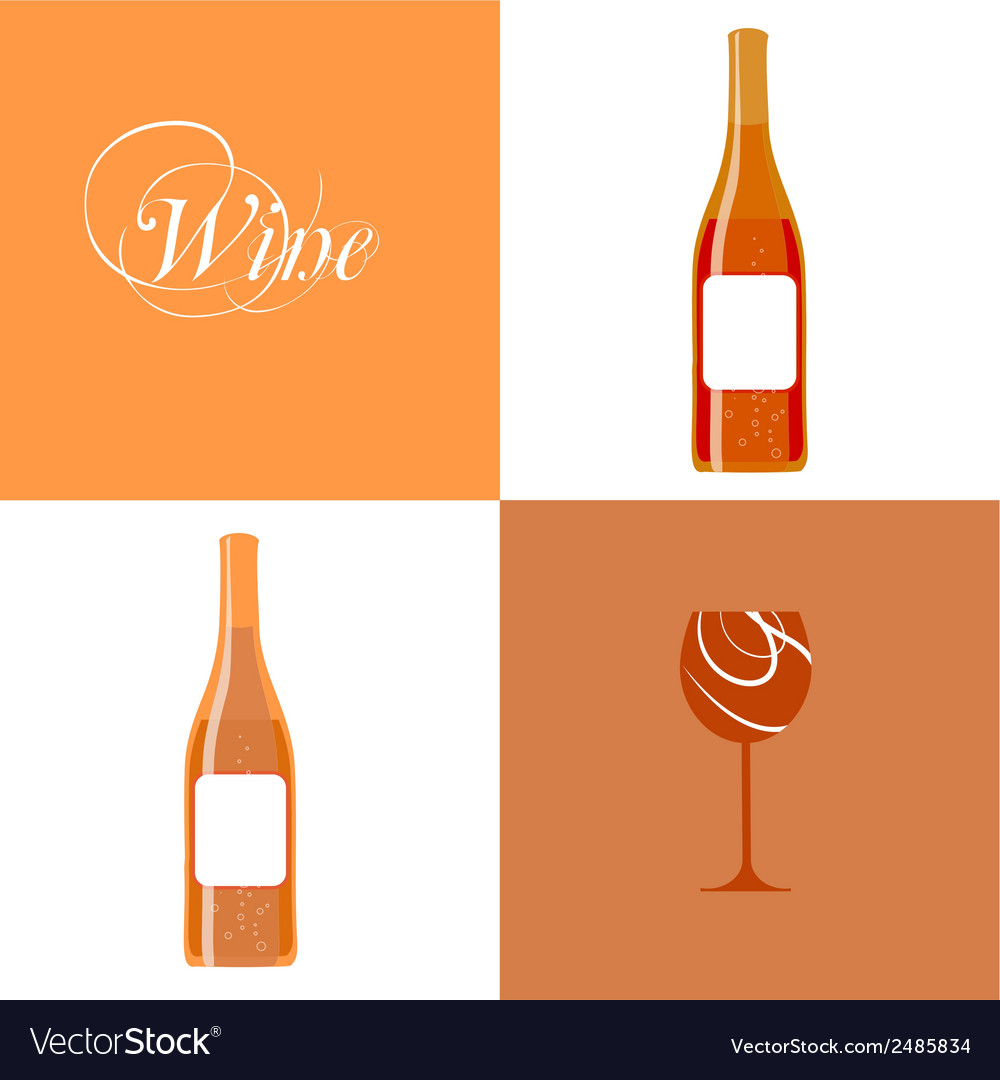 Wine bottle silhouette vector | Price: 1 Credit (USD $1)