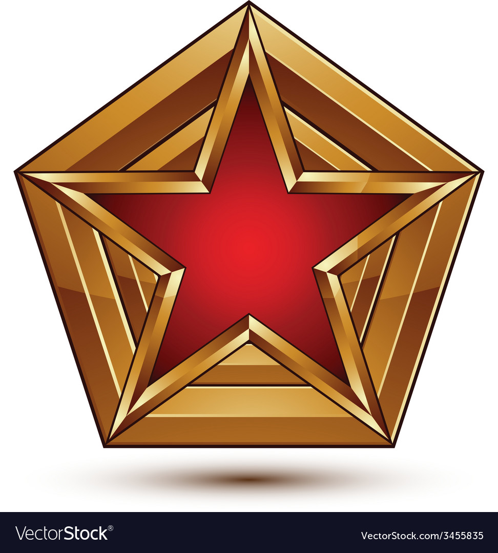 Branded golden geometric symbol stylized star with vector | Price: 1 Credit (USD $1)