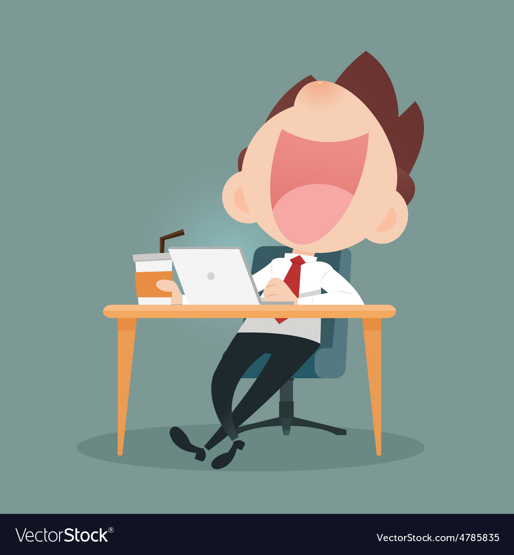 Businessman working vector